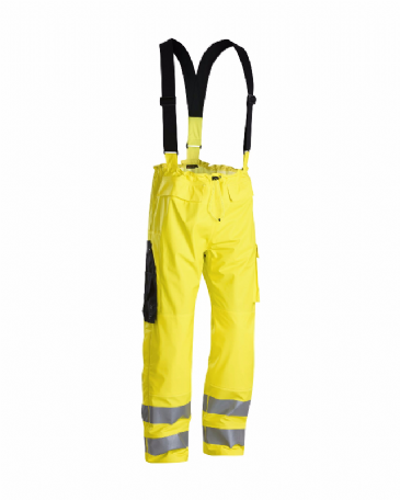 Blaklader 1303 Fire Retardant Rain Trousers (Yellow)